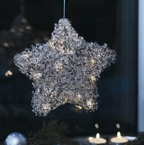 Herstal SIENNA Weihnachtsstern Silber mit 10 Leuchten