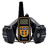 Wodondog Shock Collar 870 yards Range Training, Rechargeable et IPX7 collier de chien imperméable à l'eau avec Beep, Vibration et Shock collier électrique pour tous les chiens de taille (Pour 2 Chiens)