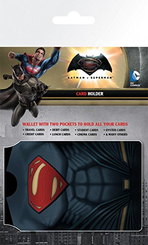 1art1 Batman Vs Superman Porte-Carte Bancaire pour Fans - Outfits (10 x 7 cm)
