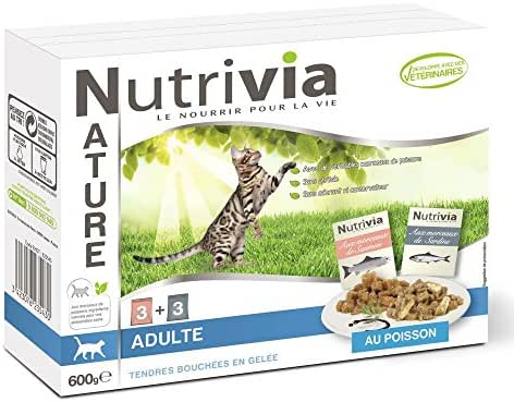 Nutrivia Nature : Nutrivia Nature Chat Adulte : Poisson X6