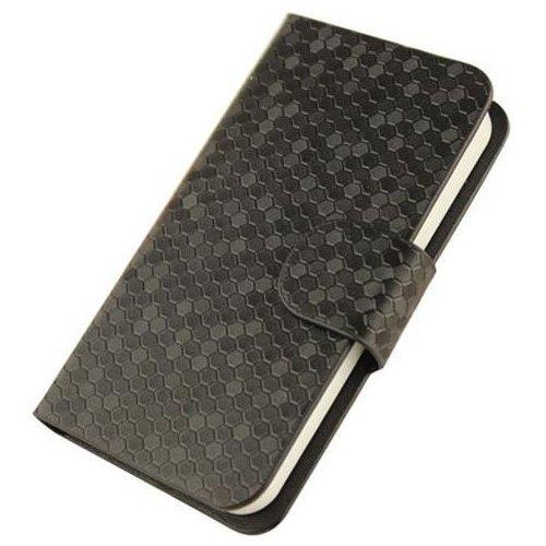 Apple iPhone 8 Plus Glitz Case Hülle PU Leder Abdeckung (Gold) - 1 x Gratis klarer Bildschirmschutz Black