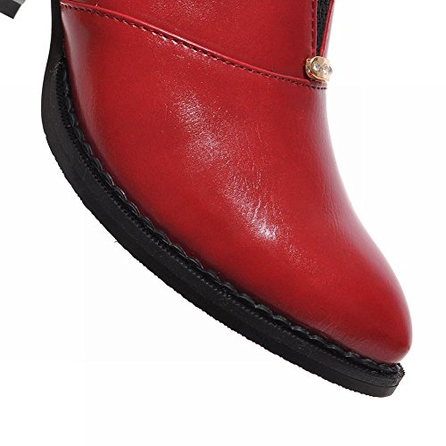 MissSaSa Donna Scarpe col Tacco Metà Piede Elegante Rosso