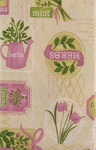 Nantucket Garden Herbs Collection Vinyl Tischdecke Flanell Rückseite 52