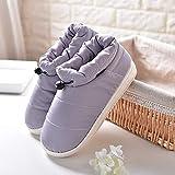 YSFU Hausschuhe Frauen Hausschuhe Wasserdichte Baumwolle Winter Rutschfeste Hause Damen Warme Schuhe Bequeme Paar Hausschuhe, 6,5