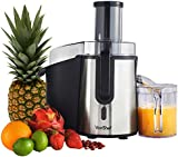 VonShef Professional Powerful 990W Whole Fruit Juicer - Free 2 Year Warranty - with a Juice Jug & Cleaning Brush