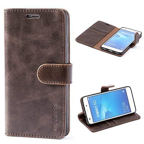 Mulbess Ledertasche im Ständer Book Case/Kartenfach für Huawei Honor 5C Tasche Hülle Leder Etui,Vintage Braun