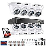 ANNKE Kit Sorveglianza 3MP DVR TVI 8 Canali 8 Dom Camera 1080P HD TVI Telecamera di sicurezza con obiettivo da 3,6 mm, 66ft IR-Cut Chiara visione notturna, IP66 uso interno ed esterno 1TB HDD