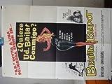 Original Spanish Movie Poster Voulez-vous Danse Come Dance With Me Brigitte Bardot