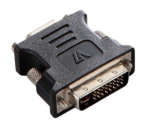 V7 DVI-I Dual Link to VGA Male to Female Adapter - Black
