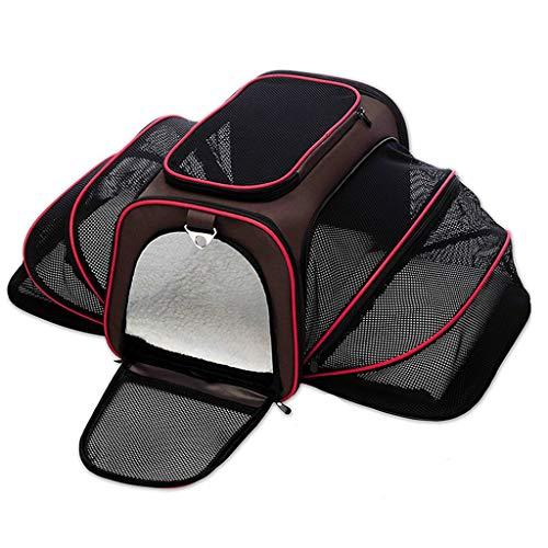 Jlxl Pet Travel Carrier, Zusammenklappbar Pet Tasche Weiche Seiten Erweiterbar Vier-Seiten-Atmungsaktives Mesh Für Hunde - Erweiterbar Aufrecht Tasche