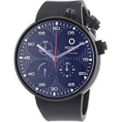 Meccaniche Veloci Quattro Valvole Limited Edition Men's Automatic Watch with Black Dial Chronograph Display and Black Rubber Strap W123K115496025
