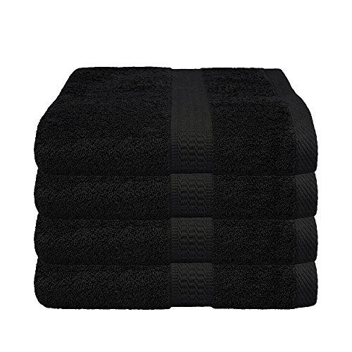 Handtuch schwarz, Restposten im 4er Pack - versandkostenfrei zum Sonderpreis - 4x Handtücher, 50x100 cm, Farbe anthrazit