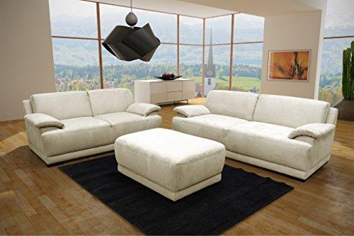 ALESSANDRIA Boxspringsofa 2-Sitzer 3-Sitzer Garnitur Sofa Couch Creme - 3