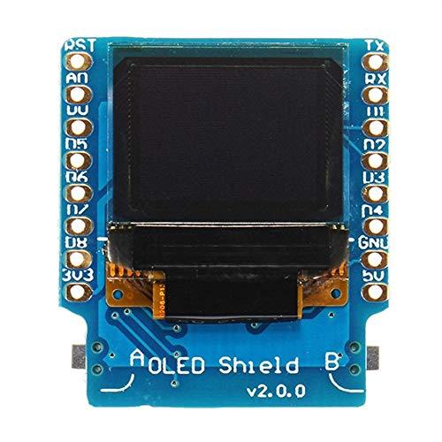 YONH Wa Anzeigemodul , 3 Stücke OLED Shield V2.0.0 for Wemos D1 Mini 0,66