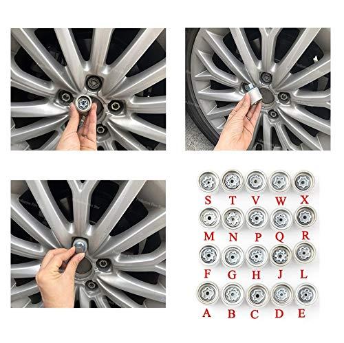 FJiuJin, 2019 1Pcs Reifen Anti-Diebstahl-Schraube Demontage Werkzeug Key Sleeve for Audi A1 A5 A3 A4L A6L A7 Q3 Q5 A8 TT R8 (Color Name : D)