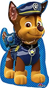 "Amscan International 3449501 ""Paw Patrol Chase Super Shape Globo de Papel de Aluminio"
