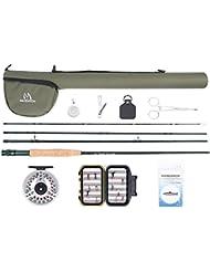 maxcatch Extreme Fly Combo Kit complet de canne à mouche de pêche 9'5Poids