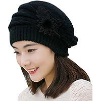 Fascigirl Knit Beanie Tinta Unita Lato Fiore Decorazione Berretto Cappello per le Donne