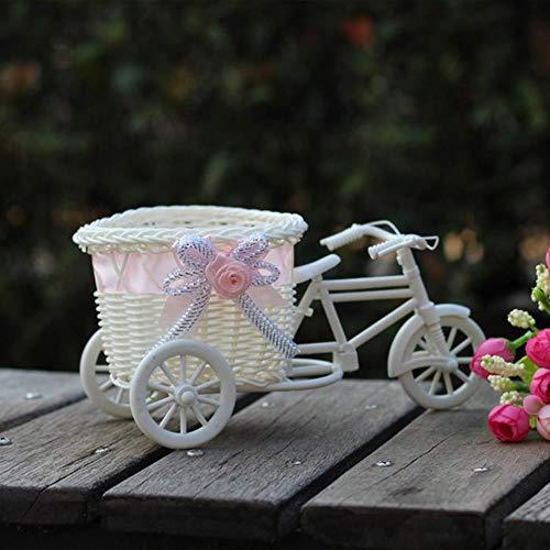Großes Rattan Dreirad Fahrrad-Blumen-Korb-Vase Lagerung Partei-Dekor Gartenpflanze Planter Dekor Pot Hochzeitsfestbevorzugung Dekor # 10, C, China