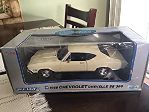 Welly - 9866 - Vehicule Miniature - 1968 Chevrolet Chevelle SS 396 - Echelle 1/18 - Rouge