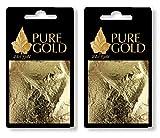 Pure Gold uk - Confezione da 20 fogli d'oro 24 kt, 100% autentico