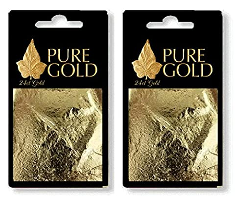 24CT Gold Leaf 100% Genuine Scrap Gold Sheets - 20 Sheets by Pure Gold