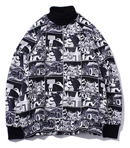 PIZOFF Unisex Hip-Hop Druckmuster Kapuzenpullover - tifer Schalternaht Raglan-Shirt mit Kapuze Manga - Jacke Herren Nike College