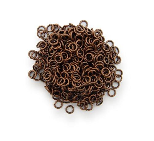 Binderinge / jump Rings 4mm Durchmesser Farbe Antik Kupfer 15g ca.420 Stk  Kostenloser Versand