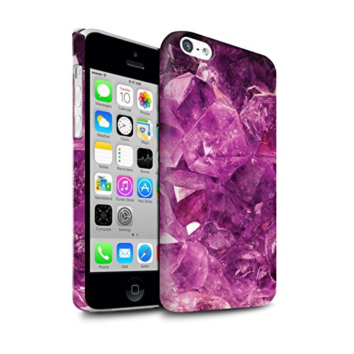 STUFF4 Matte Snap-On Hülle / Case für Apple iPhone 7 Plus / Juni/Mondstein Muster / Edelstein/Stein Kollektion Februar/Amethyst