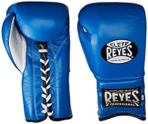 Cleto Reyes Training Gloves With laces and attached thumb - Blue - 16oz