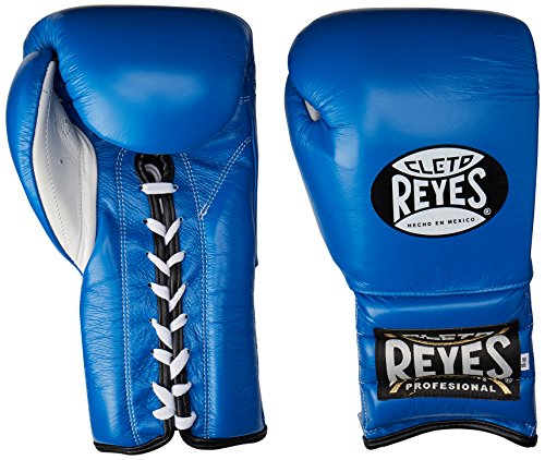 Cleto Reyes Professional Training Boxing Gloves with Traditional Laces (azul, 14oz)