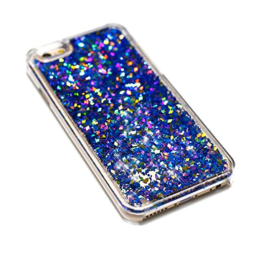 Cover iPhone 4S,Cover iPhone 4, Custodia Cover Case per iPhone 4S / 4,ikasus® Di lusso Bling Bling scintilla scintillio iPhone 4S / 4 Case Custodia Cover [Cristallo Trasparente] Protettiva Trasparente Diamante:Blu