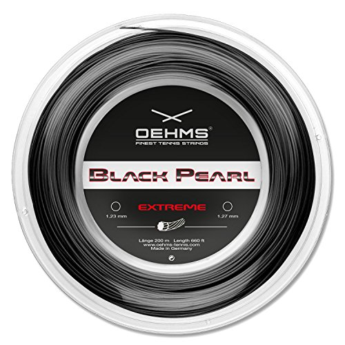 Oehms Black Pearl Extreme | 200m Rolle | Ø 1,23/1,27mm | monofile Co-Polyester Tennissaite (1.23 mm)