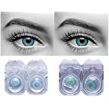 4b73fa1c4d5 Eyeshine Blue   Turquoise Colored Contact Lens 2 Pair Monthly Disposable  With Case And Solution