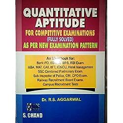 Quantitative Aptitude by Dr. R.S.Aggarwal