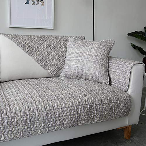 Tt&cc quilting slittamento divano copre,nordico quattro stagioni universale morbido tessuto soggiorno semplice e moderno in pelle divano asciugamano fodera per divano-h 70x100cm(28x39inch)