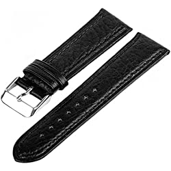 Marchel LX50 Watch Band Black 22 mm Watch Band Strap Bracelet Watch Synthetic Leather Grained