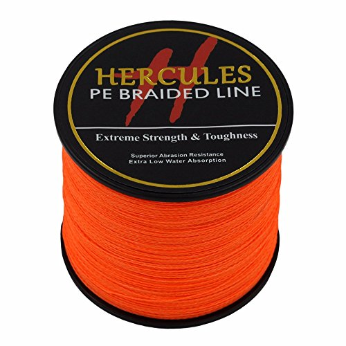 300?m 328yds orange 6lbs-100lbs Hercules PE Braid Angelschnur Spectra 4?Str?hnen, Orange -