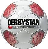 Derbystar Kinder Fussball Brillant Super Light, Weiss/Rot/Schwarz