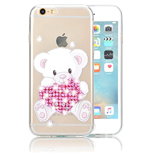Custodia iPhone 7 Plus TPU, Case Cover per iPhone 7 Plus in TPU,Bonice iPhone 7 Plus Bling Diamante Morbido Ultra Thin Rubber Case Cover iPhone 7 Plus 5.5 inch (elefante) medol 1
