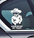 Wunschname On Tour - Baby On Board Cowboy Personalised with your Name Affe Funny Auto Vinyl Sticker Car Jdm OEM Vertical Sticker Bomb Stickers Decals Tuning Sticks