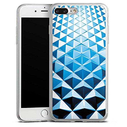 Apple iPhone X Slim Case Silikon Hülle Schutzhülle Nieten Muster Silber Blau Silikon Slim Case transparent
