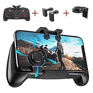 OXOQO PUBG Mobile Gamecontroller Gamepad, Joysticks für Handys Physische Tasten Ziel- und Zieltasten L1R1 Ergonomisches Design Handgriff-Spiel Trigger für PUBG/Messer-Out/Überlebensregeln