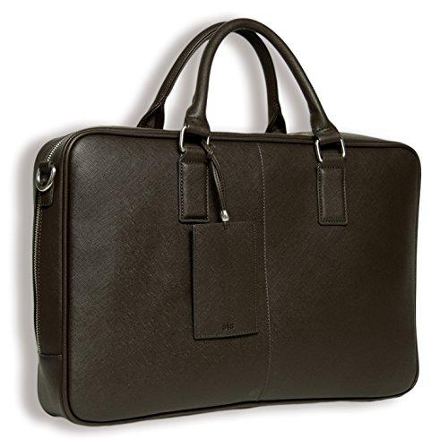 BFB Laptop Messenger Schultertasche für Herren - Designer Business Computer Tasche oder Herren Aktentasche - Ideal für Arbeit und Reisen - SCHOKLADENBRAUN - by My Best Friend Is A Bag