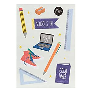 Hallmark First Day At School Card 'School's In' - Medium