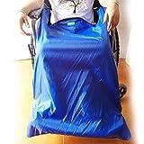 Coperta Per Sedia A Rotelle Con Tasche Per I Piedi, Panno Esterno Antivento Impermeabile E Fodera In Velluto Caldo (Blu),Big