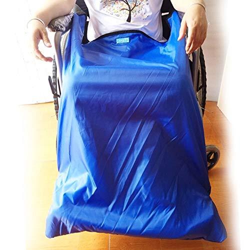 Rollstuhldecke Mit Fußtaschen, Wasserdichtes Winddichtes Obermaterial Und Warmes Samtfutter (Blau),Big