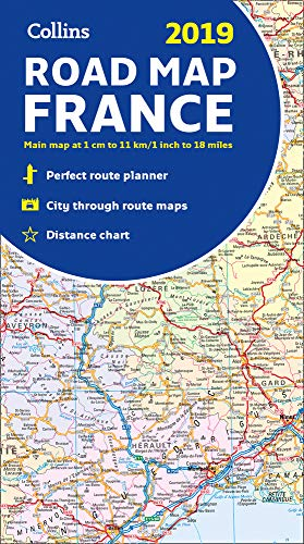 2019 Collins Map of France par  Collins