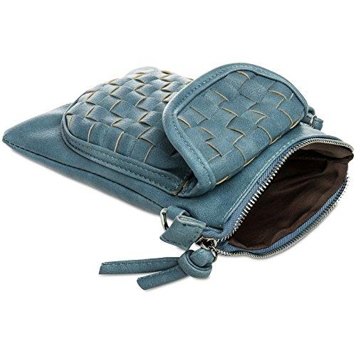 CASPAR Fashion, Poschette giorno donna taglia unica bleu jeans