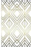 Meine Notizen: Blanko  Journal A5 Liniert Mit Muster Weiß Gold